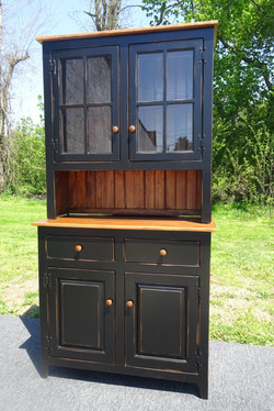Pine or Maple Step-back Hutch