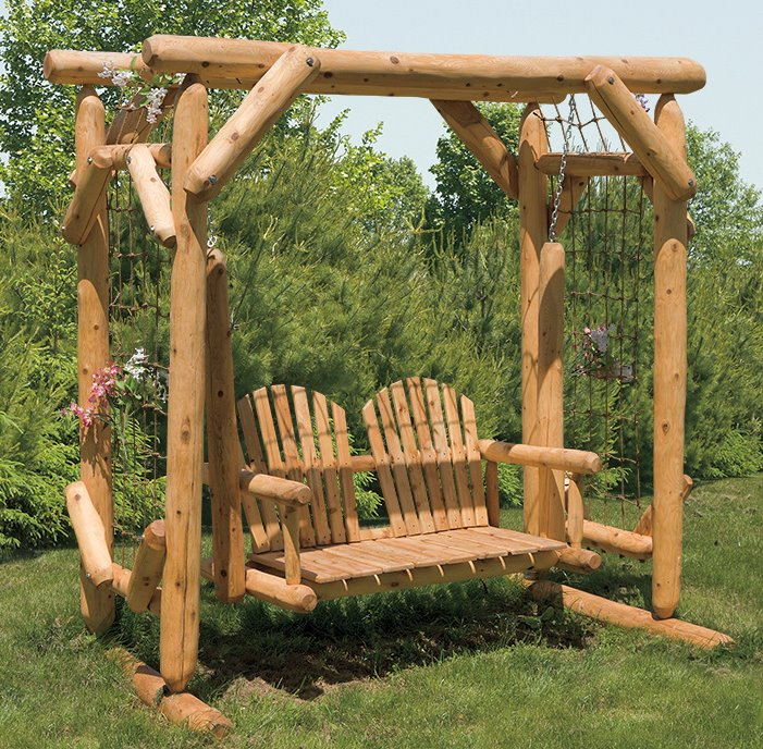 Rose Arbor With Swing