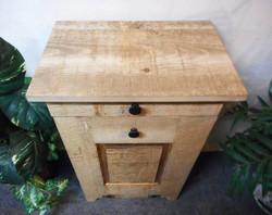 Rough Sawn Wood Trash Cabinet