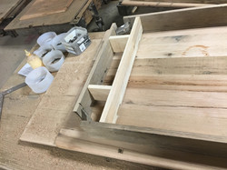UNDERSIDE OF TABLE UNDER CONSTRUCTION