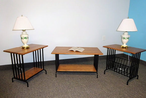 Iron Hill Coffee Table & End Tables Set  $675