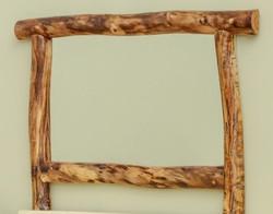 Log Framed Mirror in Aspen