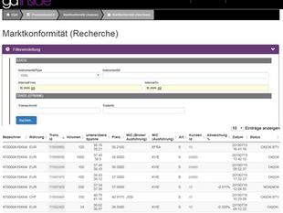MCC Service/Überwachung Best Execution: Audit-, Research- und Reporting-Funktionen