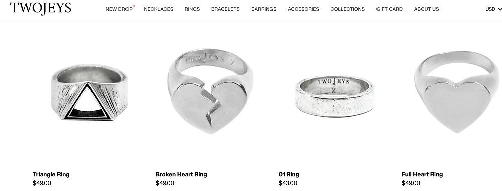 TwoJeys.com Men's Jewelry