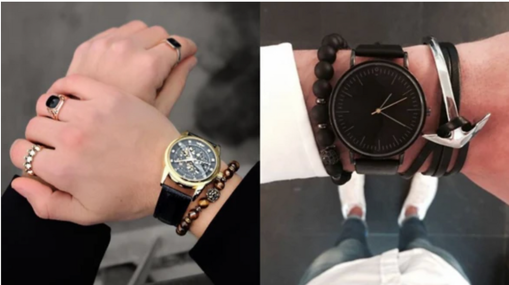 Men's watches, rings, bracelets