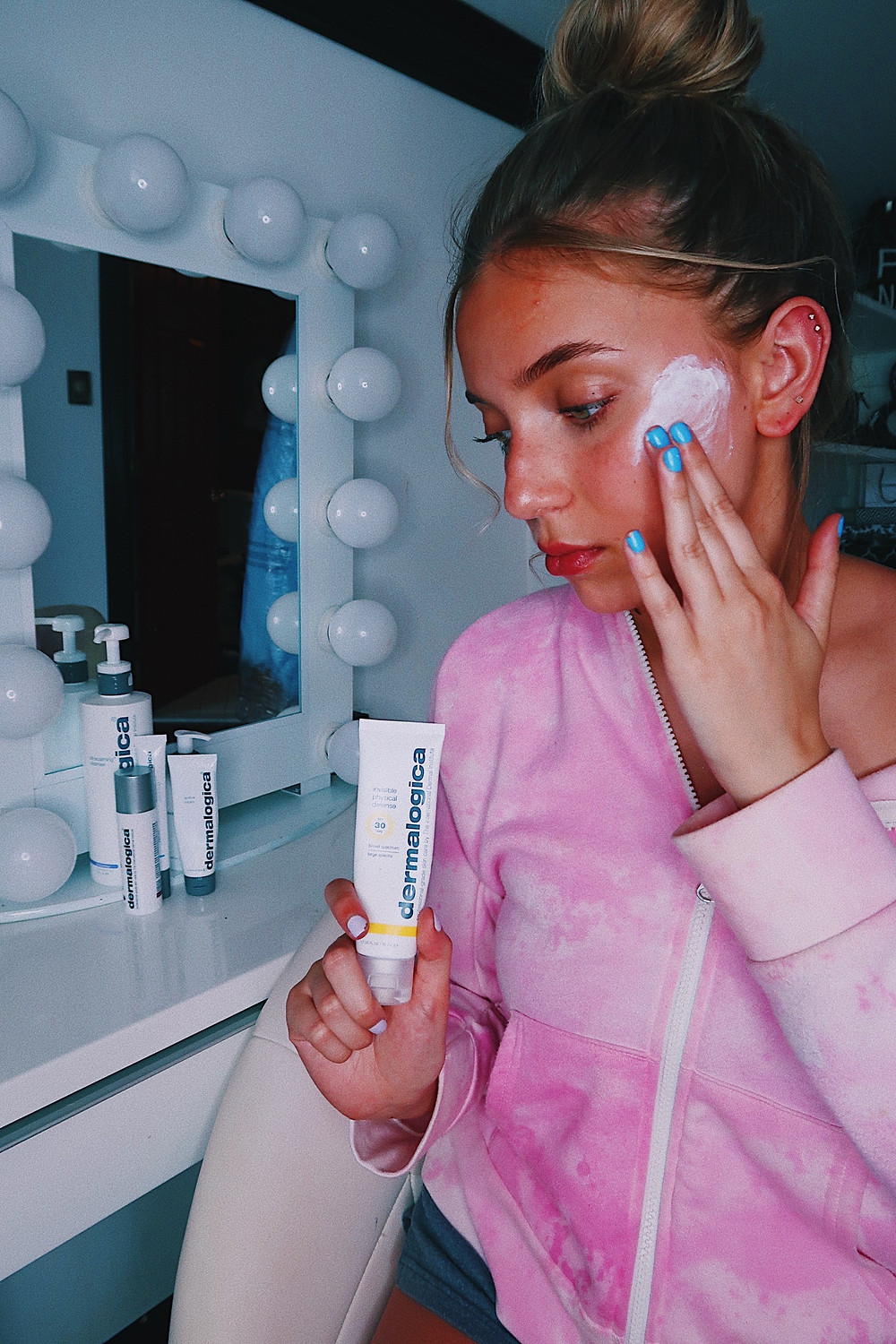 Lexy Silverstein in Dermalogica Products