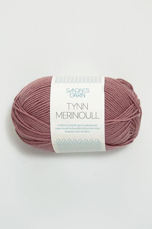 Tunn Merinoull 4042 (Gammalrosa)