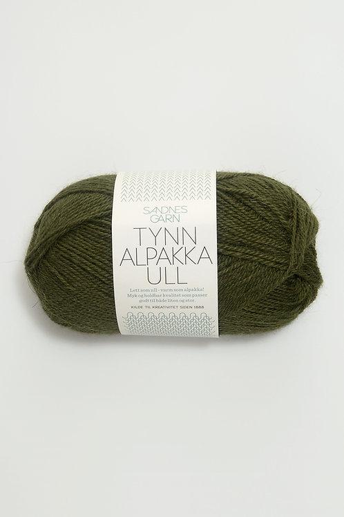 Tunn Alpakka Ull 9573 (Mossgrön)