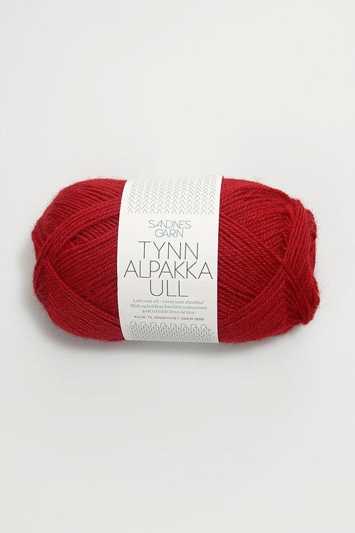 Tunn Alpakka Ull 4219 (Röd)