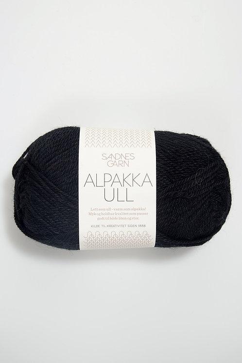 Alpakka Ull 1099 (Svart)