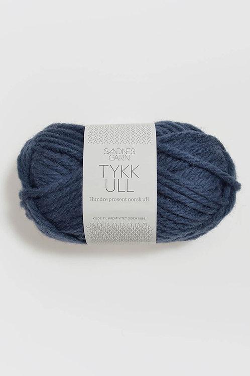 Tykk Ull 6072 (Mörk jeansblå)