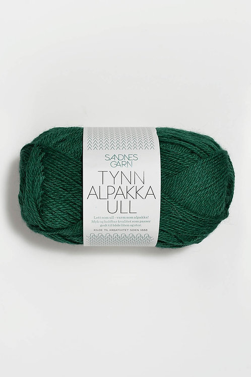 Tunn Alpakka Ull 7755 (Smaragd)