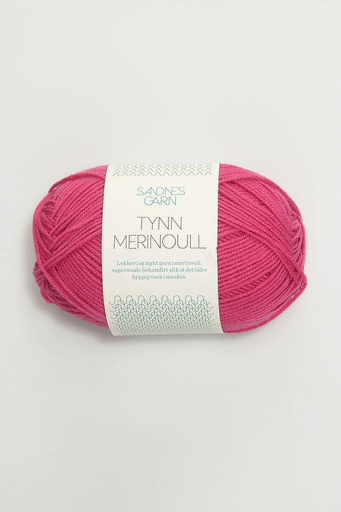 Tunn Merinoull 4516 (Varmrosa)