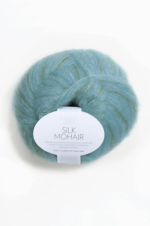 Silk Mohair 6050 (Blå/grön print)