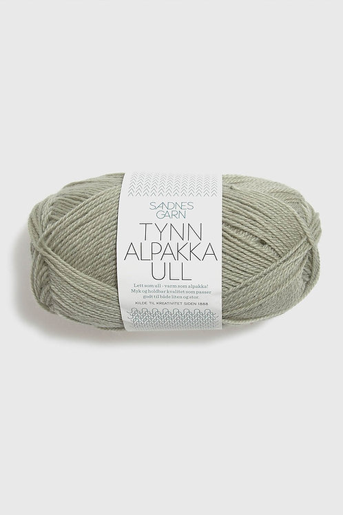 Tunn Alpakka Ull 9521 (Blek pistage)