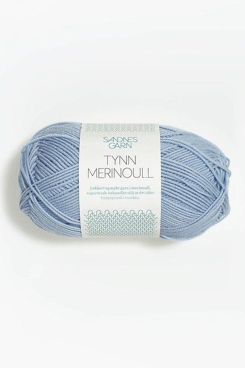 Tunn Merinoull 6531 (Isblå)