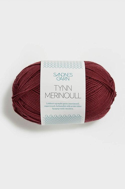 Tunn Merinoull 4254 (Mörk tegelsten)