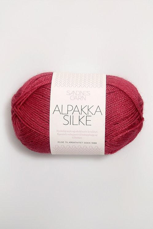 Alpakka Silke 4327 (Hallonröd)