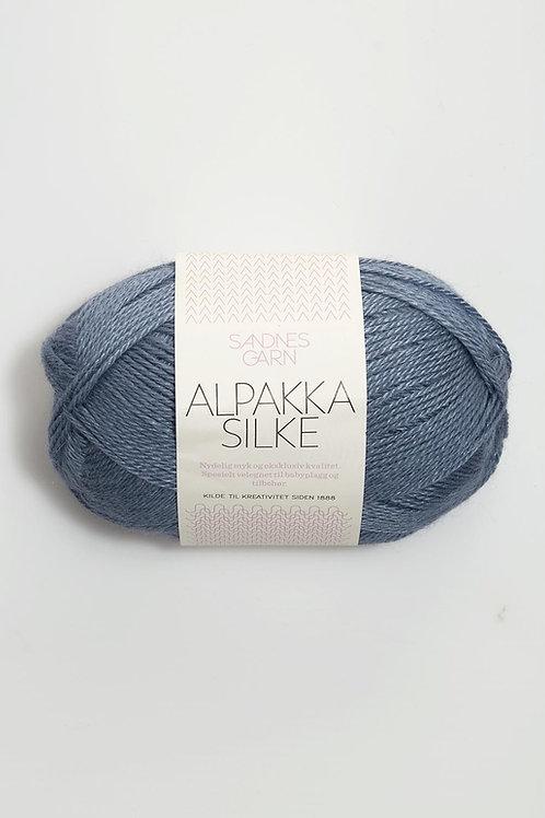 Alpakka Silke 6052 (Jeansblå)