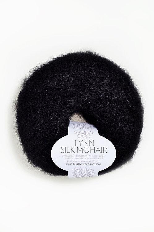 Tunn Silk Mohair 1099 (Svart)