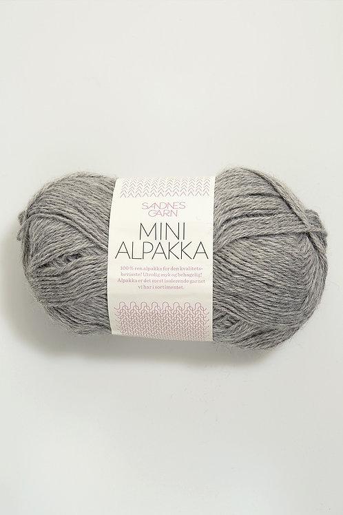 Mini Alpakka 1042 (Gråmelerad)