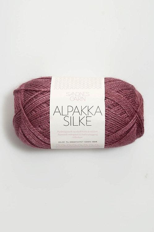 Alpakka Silke 4244 (Mörk gammalrosa)
