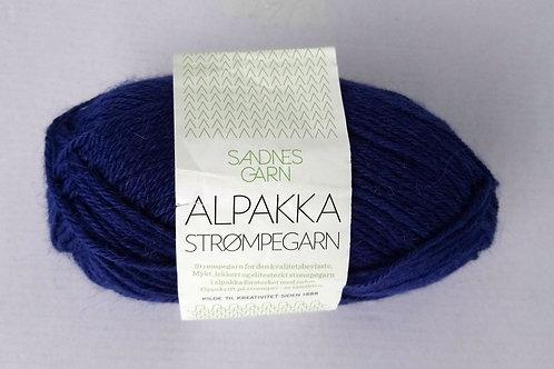 Alpakka Strumpegarn 5563 (Kornblå)