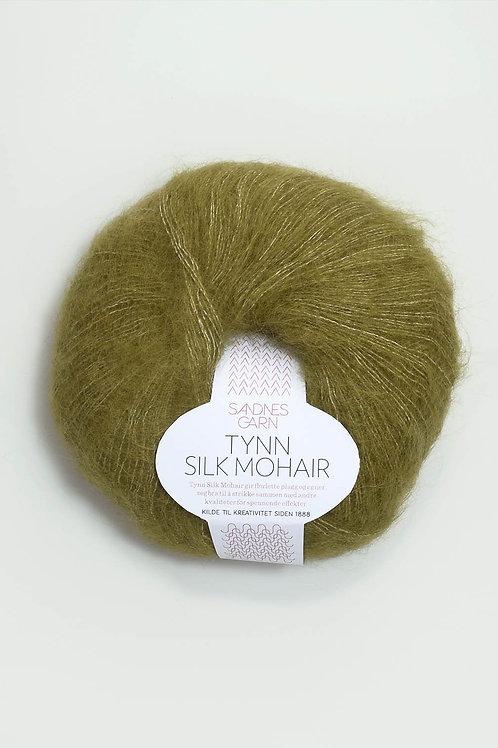 Tunn Silk Mohair 9850 (Olivgrön melerad)