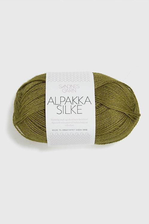 Alpakka Silke 9644 (Gulgrön)