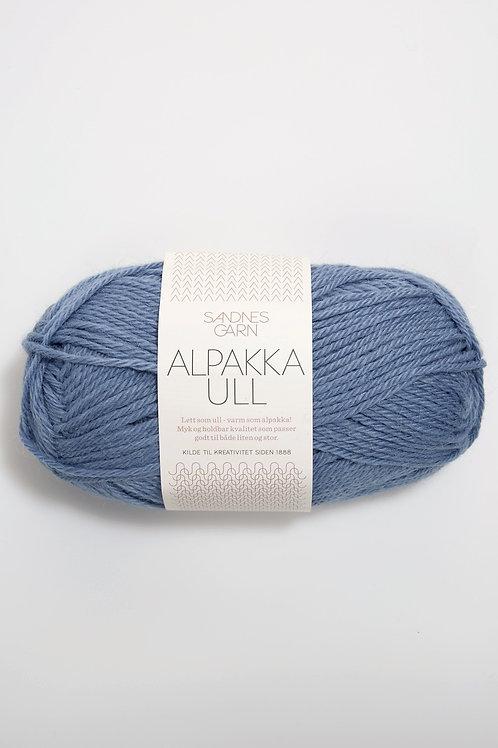 Alpakka Ull 6052 (Jeansblå)