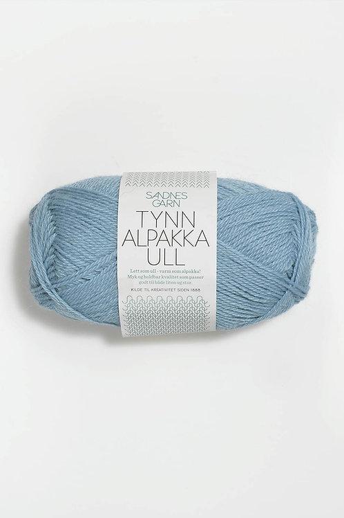 Tunn Alpakka Ull 6013 (Himmelsblå)