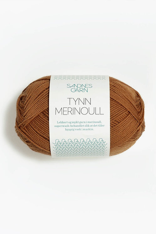 Tunn Merinoull 2336 (Mörk curry)