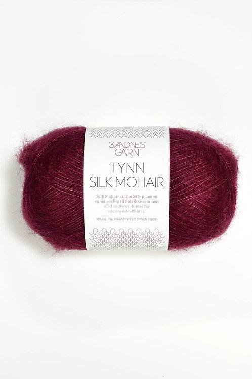 Tunn Silk Mohair 4545 (Vinröd)