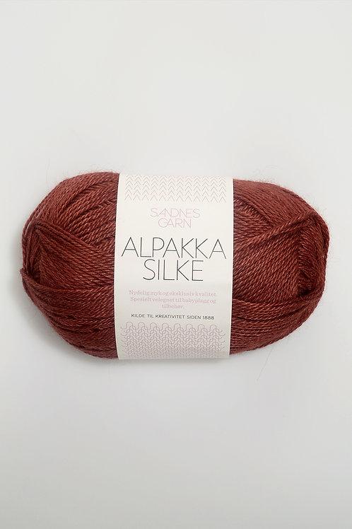 Alpakka Silke 3355 (Mörk rost)