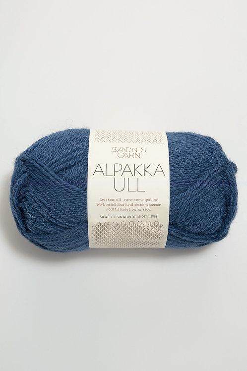 Alpakka Ull 6364 (Mörkblå)