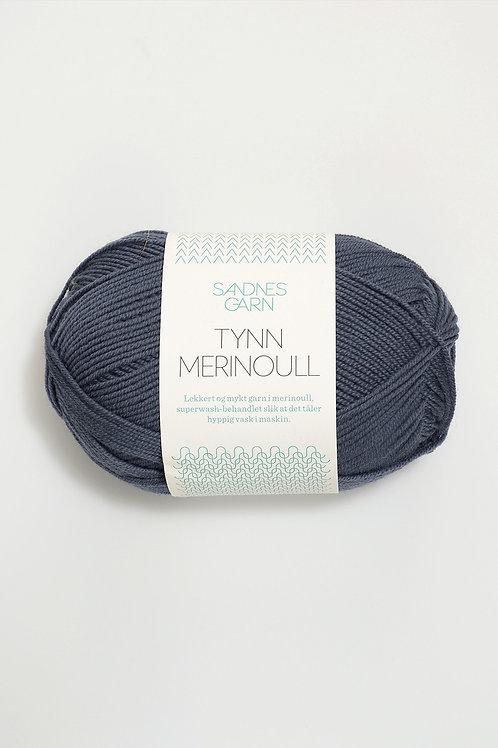 Tunn Merinoull 6071 (Gråblå)