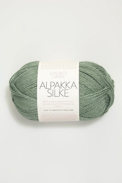 Alpakka Silke 7741 (Dovt grön)