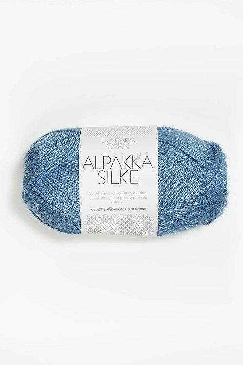 Alpakka Silke 6573 (Blåklint)