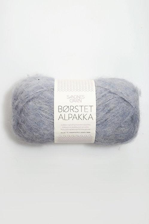 Borstad Alpakka 6220 (Ljus blågrå)
