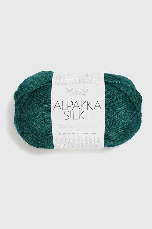 Alpakka Silke 6765 (Petrol)