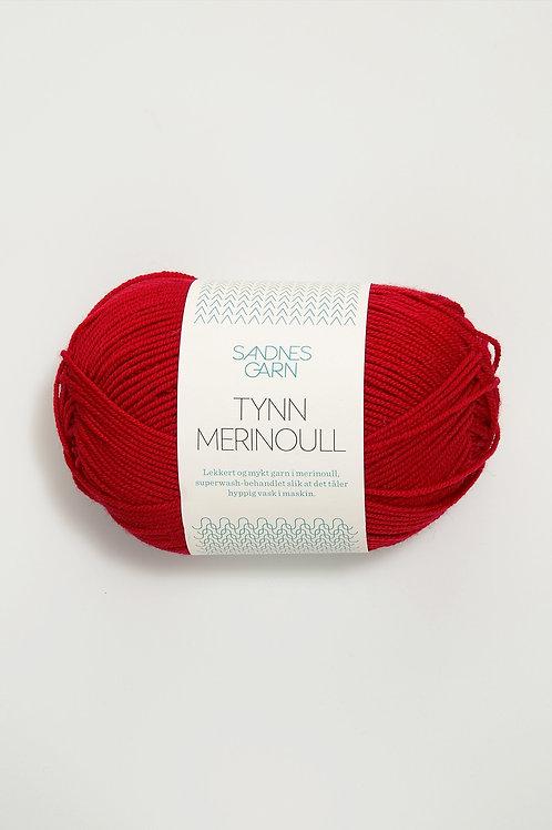 Tunn Merinoull 4219 (Röd)
