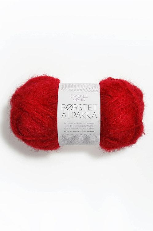 Borstad Alpakka 4219 (Röd)
