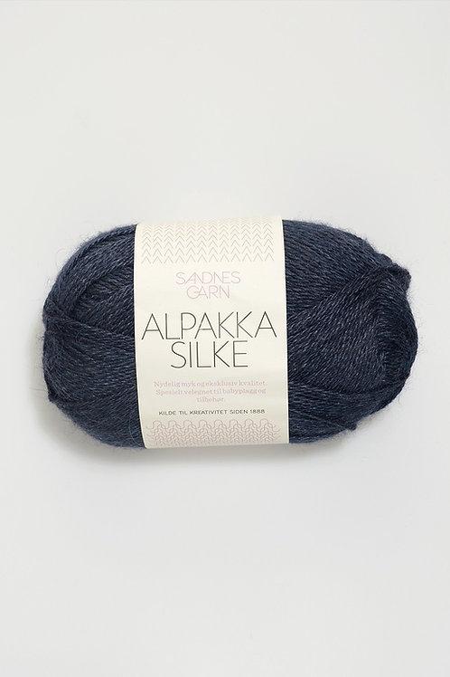 Alpakka Silke 6081 (Djupblå)