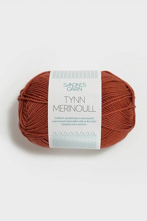 Tunn Merinoull 4035 (Varm terrakotta)