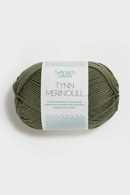 Tunn Merinoull 9551 (Dovt mossgrön)