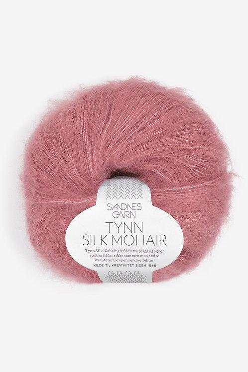 Tunn Silk Mohair 4244 (Mörk gammalrosa)