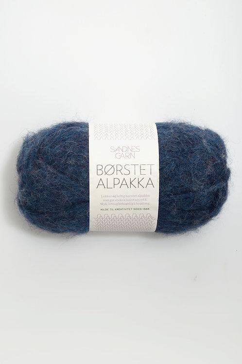 Borstad Alpakka 6060 (Bläckblå)