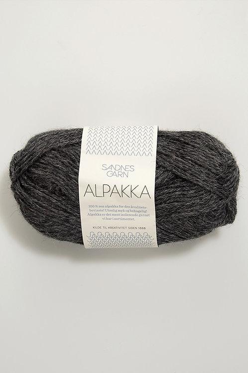 Alpakka 1053 (Mörkt gråmelerad)