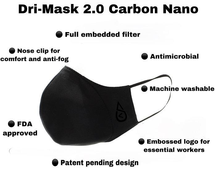 ANTIMICROBIAL DRI-MASK 2.0 CARBON NANO
