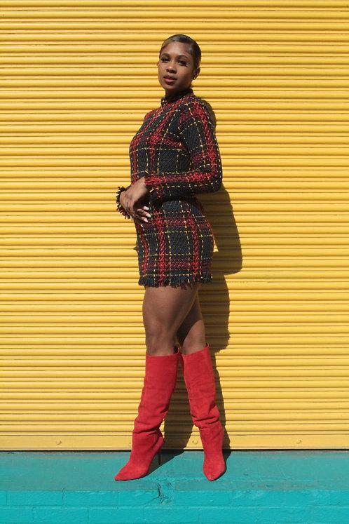Britain Tweed Dress